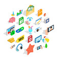 camera phone icons set isometric style vector image vector image