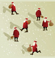 christmas scene with santa claus vector image vector image