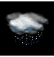 Cloud and rain and snow icon vector image vector image