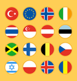 Collection of circle flag icon flat design vector image vector image