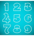 connections alphabet font set 4 numbers 1 to 9