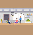 coworking space interior banner modern office job vector image