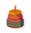 delicious sweet cake birthday vector image vector image