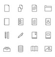 documents icon sets line icons vector image vector image