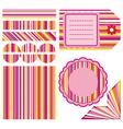 Easter set of stripe design elements vector image