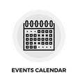 Events Calendar Line Icon vector image vector image