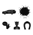 explosion fire smoke and other web icon in black vector image vector image
