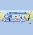 food truck festival or mobile eatery snack-bar vector image
