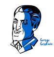 george gershwin portrait vector image