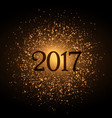 golden glitter background for 2017 new year eve vector image vector image