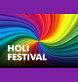 holi happy festival colors greeting colorful vector image vector image