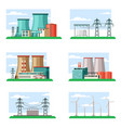 industrial and ecological power plants set vector image