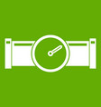 instrument measures the pressure in the pipe icon vector image vector image