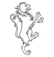 lion coat of arms is designed with an intarsia vector image vector image