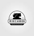 mini cannon artillery vintage logo vector image vector image