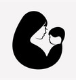 muslim mother and bastylized symbol vector image