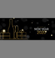 new year 2020 banner gold art deco holiday gift vector image