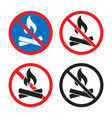 no fire sign no campfire allowed in this area vector image vector image