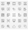 Online video icons set vector image