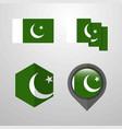 pakistan flag design set