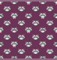 pattern with cute cartoon raccoons with glasses vector image