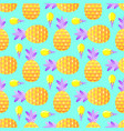 pattern with pineapples and ice cream vector image