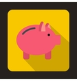 Piggy bank icon in flat style vector image vector image
