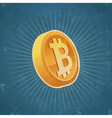 Retro Gold Bitcoin Coin