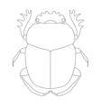 scarab Geotrupidae dor-beetle Sketch of dor vector image vector image