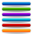 set of bright colorful oblong design elements vector image vector image