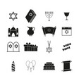 set of hanukkah the holiday of icons vector image vector image