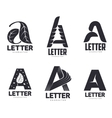 Set of letter A logo templates vector image vector image