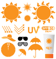 Set of UV Sun Protection vector image vector image