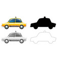 set taxi car vector image
