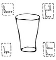 shaker pint beer glass hand drawn vector image vector image