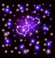 shining hearts retro neon sign heart-violet vector image