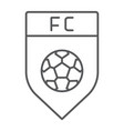 soccer club thin line icon game and badge vector image vector image