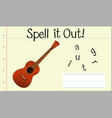 spell english word guitar vector image vector image