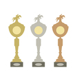 Sports trophies vector image vector image