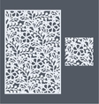 The template pattern for decorative panel2 vector image vector image