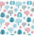 Vintage seamless pattern with trees vector image