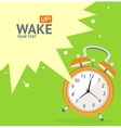 Wake Up Clock Concept Card vector image vector image