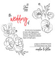wedding greeting card invitation modern holiday vector image