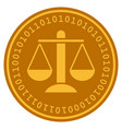 weight scales digital coin vector image
