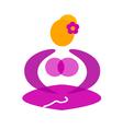 Wellness yoga pose vector image vector image