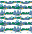 winter cute landscape christmas seamless pattern vector image vector image