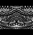 zentangle inspared pattern hand drawn vector image