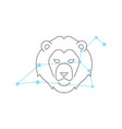 zodiac signs leo line icon simple element vector image vector image