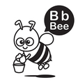 B Bee cartoon and alphabet for children to vector image vector image