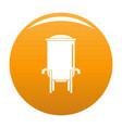 barrel icon orange vector image